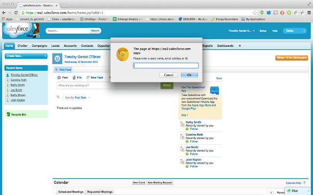 Salesforce User Search