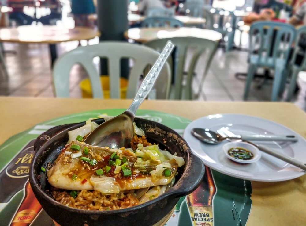 claypot fish soy rice chinese traditional food malaysia penang food