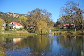 Photo: Yoga Farm, Grass Valley, CA - Pond and Fountain, Yoga Barn