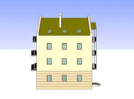 Budynek wielorodzinny-MDM6 - Elewacja lewa