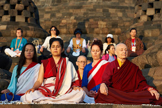 Photo: Meditation early morning in Borobudur Temple on 1st of July. Such a inspiring moment for all Sakyadhita participants. Photos courtesy of Olivier Adam