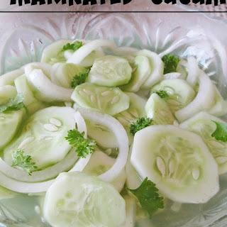 Crisp Marinated Cucumbers.