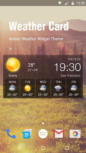 Transparent Weather Widget