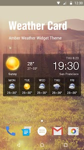 Transparent Weather Widget screenshot 0