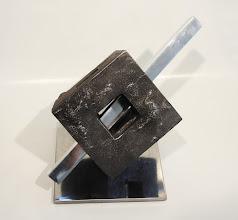 Photo: PIERCED FENESTRATION -11H X 17W X 14D Lost Foam Iron Casting , Polished Aluminum & Polished Mild Steel, View 4