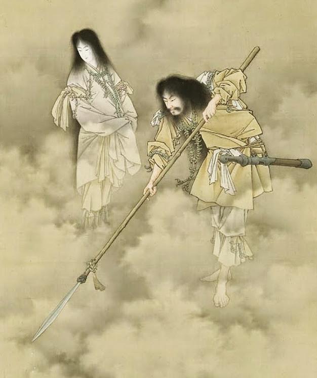 Imagen representativa del mito de la creación, en la cultura japonesa