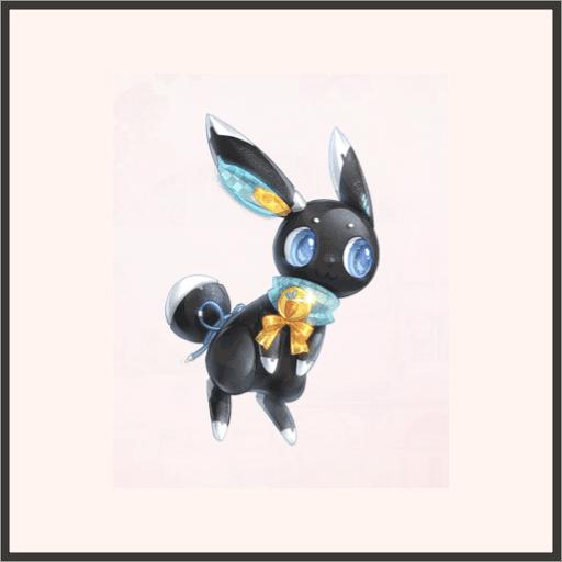 踊る黒ウサギ