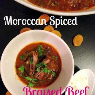Moroccan Spiced Braised Beef with Apricots