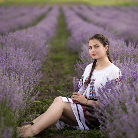 Eliza by Gelu Scurtu - People Portraits of Women ( girl, lavander, colors, beautiful, eliza, light, people )