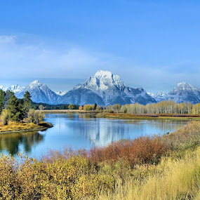 Teton Glory by Trudy Mader - Landscapes Mountains & Hills (  )