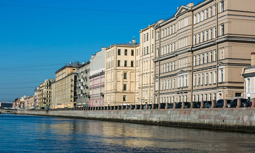 st-petersburg-architecture-seen-on-canal-cruise-2.jpg - Some of the scenic buildings lining a canal  in St. Petersburg, Russia.
