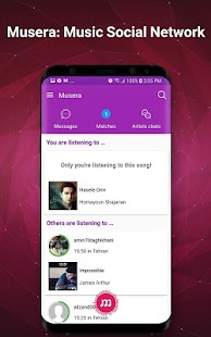 Musera : Music Social Network - náhled