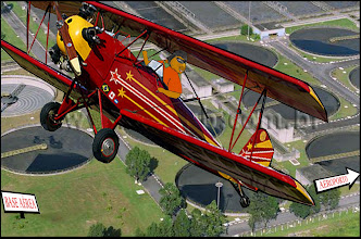 Photo: Sobrevoando a ETE da base Aérea! Esgoto tratado é um sonho de consumo!