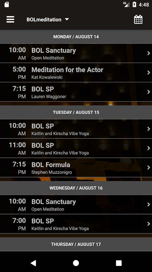 BOL meditation- screenshot