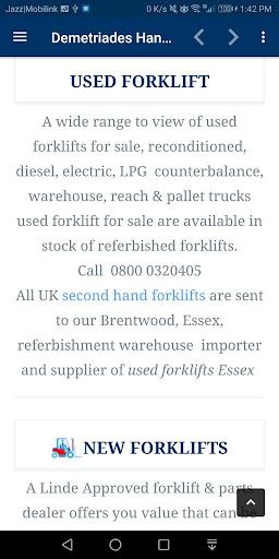Used Forklifts Demetriades Handling UK screenshot 7