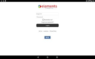 Screenshot of Elements Mobile Banking