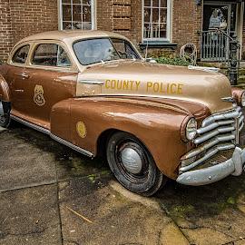 Vintage Police Car by Richard Michael Lingo - Transportation Automobiles ( georgia, police, automobiles, savannah, transportation )