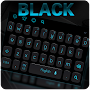 Simple Neon Black Keyboard APK icon