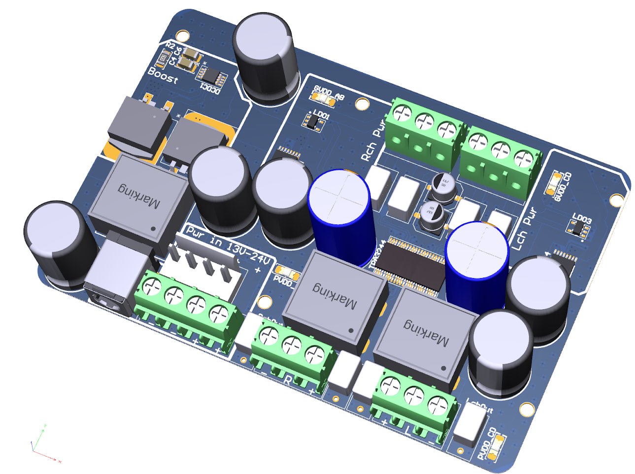 Diy Tpa3244 Board Diyaudio Pcb For Amplifier Audio Power Circuit Quotes Click The Image To Open In Full Size
