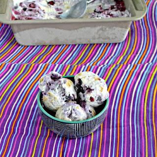 No Churn Blueberry Graham Cracker Ice Cream