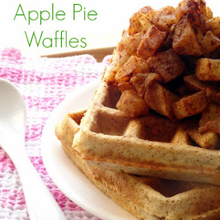 Healthy Apple Pie Waffles