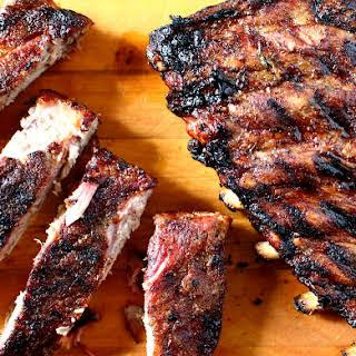 Garlic Rosemary Balamsic and Honey Barbecued Ribs.