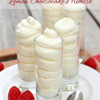 Lemon Cheesecake Mousse.