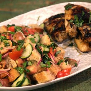 Grilled Wings with Focaccia Panzanella.