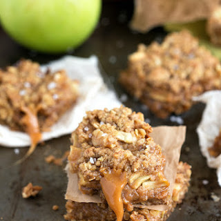 {Browned Butter + Salted Caramel} Apple Pie Bars