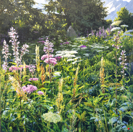 Fleurs de la Jument. oil on canvas,60x60cm