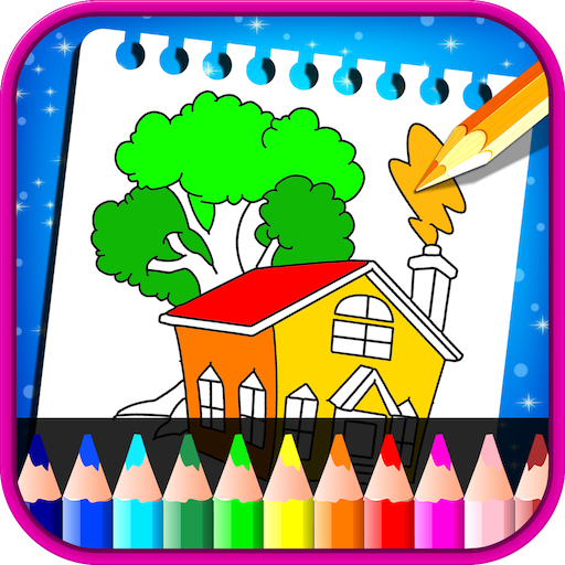 House Coloring Book - Colorin Book For Kids