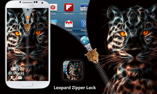 Leopard Zipper Lock