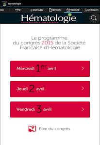 Hématologie congrès SFH 2015 screenshot 7