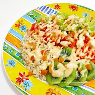 Quinoa Salad with Kiwi and Brazil Nuts