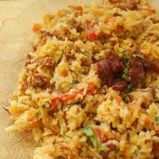 Cauliflower Rice Chorizo Pulao.