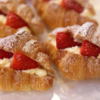 Strawberries & Cream Croissants.