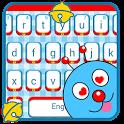 Cute Blue Cartoon Cat Keyboard Theme icon