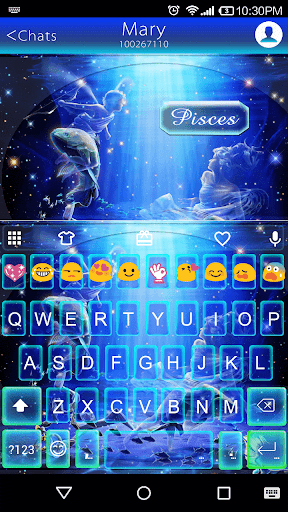 Pisces Emoji Keyboard Theme
