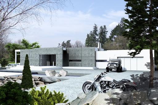 projekt Alfa z garażem 2-st. A