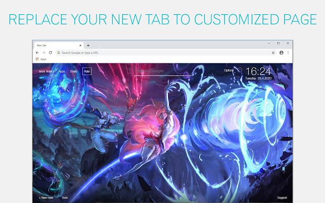 LoL Ahri Wallpapers League Of Legends New Tab