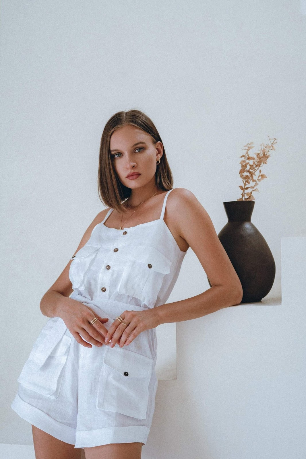 Bella Romper in White