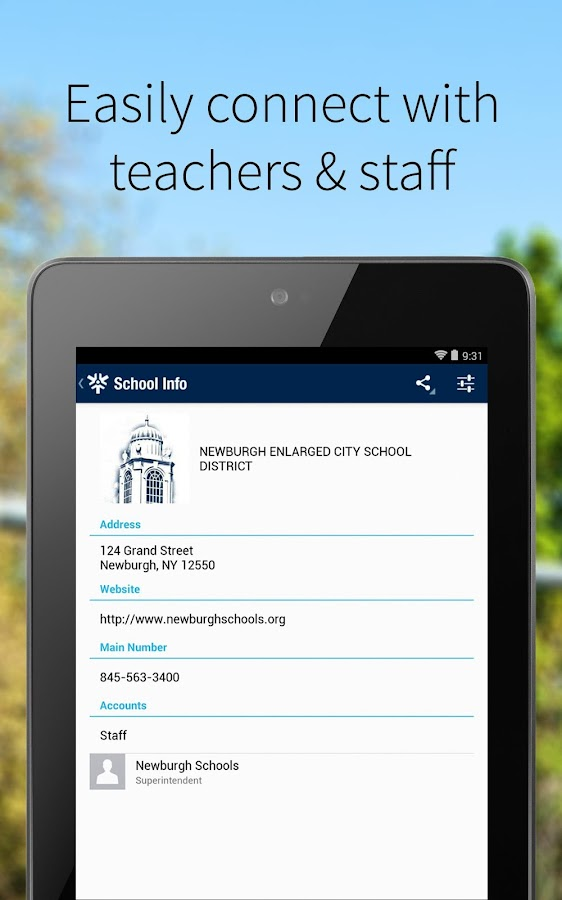 Newburgh School District- screenshot