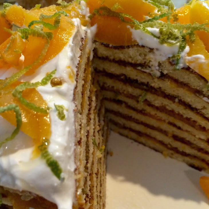 Apricot Stacked Cake Recipe