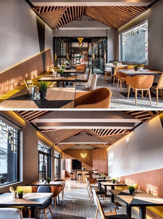 Thiết kế quán cafe nhà ống 80m2
