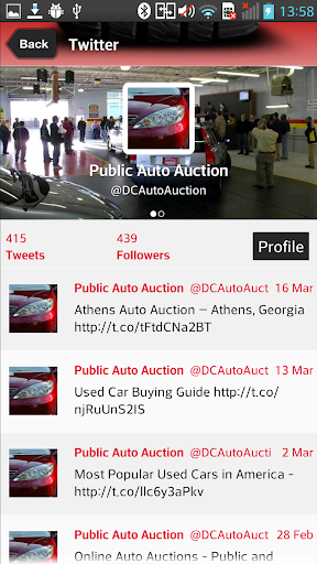 Public Auto Auctions Screenshot