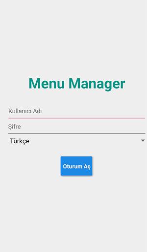 Rexpress Menu Manager