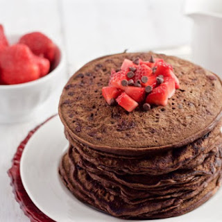 Healthy Chocolate Pancakes.