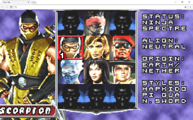Mortal Kombat Deadly Alliance New Tab