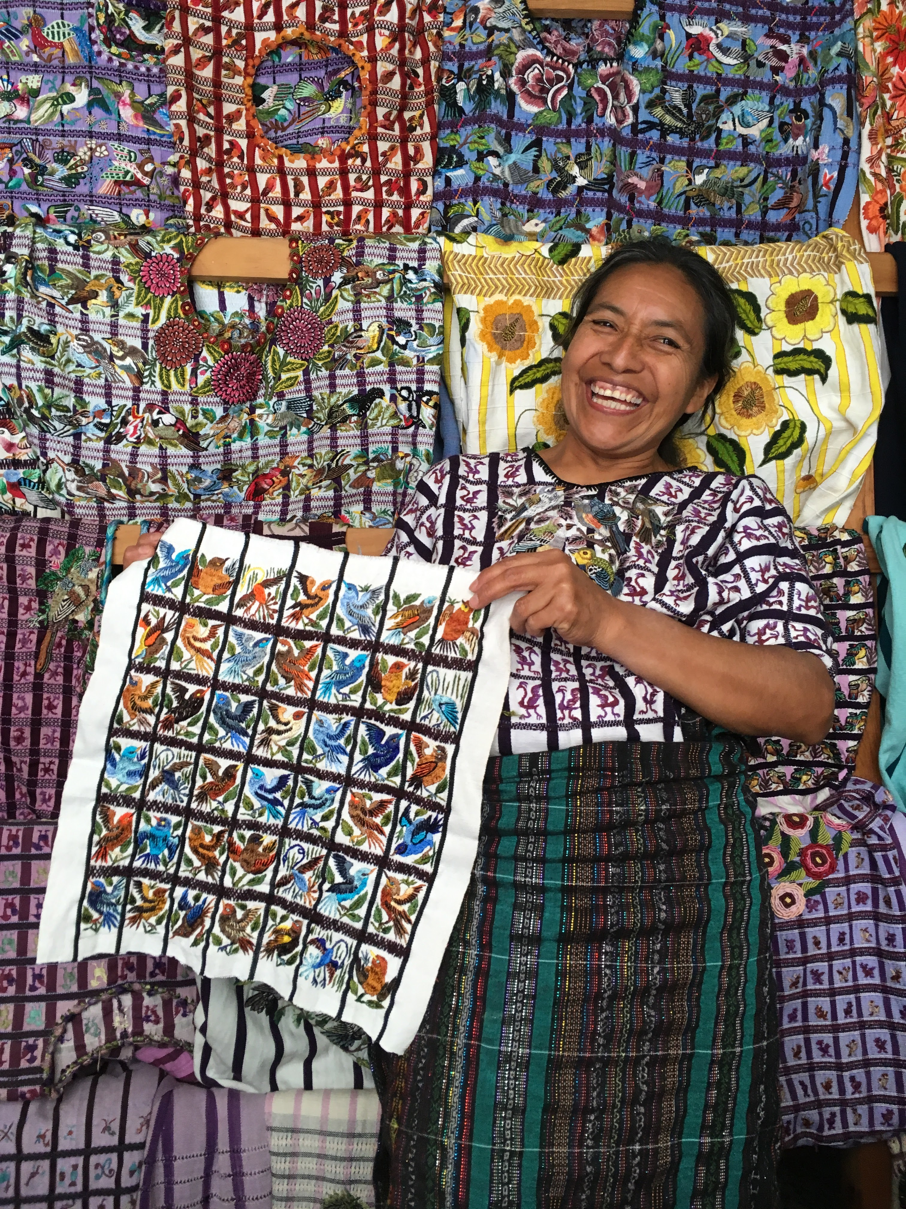 Beautiful embroidery works can be found in Santiago Atitlan