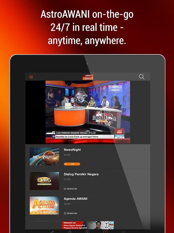 Astro AWANI - #1 24-hour News Channel in Malaysia- screenshot